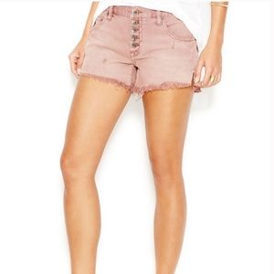 Free People Runaway Slouch Cutoff Shorts Mauve